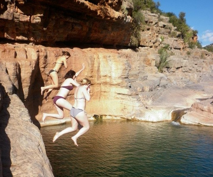 Cliff jumping at Paradise Valley | The Spot Morocco, Surf Camp Morocco, Surfing Morocco, Surf Morocco, Surf School Morocco, Surf Holidays in Morocco, Surf Taghazout