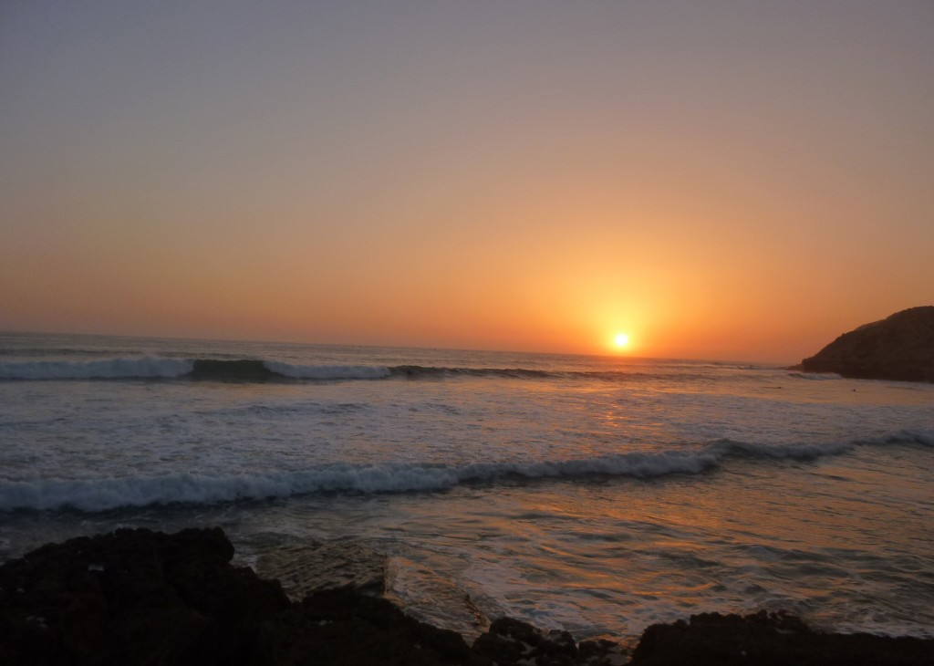 Sunset in Taghazout | The Spot Morocco, Taghazout, surf Morocco, surf in Morocco, Morocco surf, where to surf in Morocco, surfing Morocco