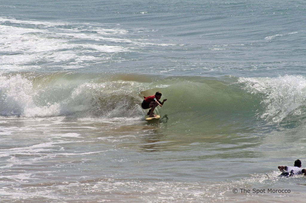 Local grom at Devils Rock surf contest