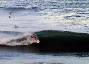 Welsh gal Jo Dennison surfing in Morocco
