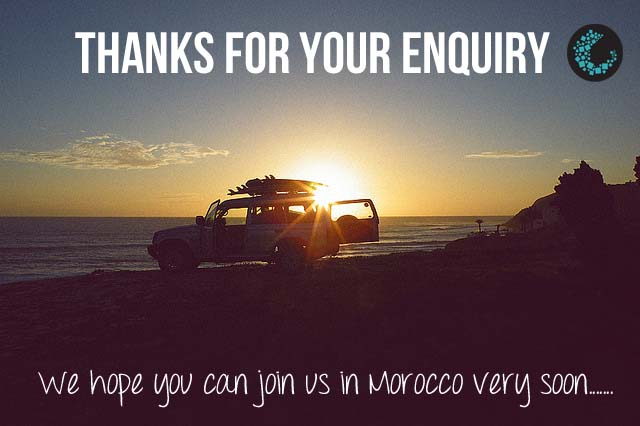 Thank You Surf Holiday in Morocco Enquiry | The Spot Morocco