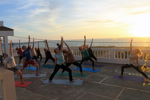 Sunset yoga at the surf camp | The Spot Morocco