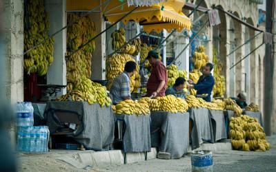 banana village banana stalls