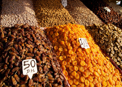 fruits and nuts in the souk