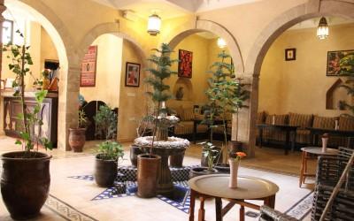 Riad courtyard| The Spot Morocco, Surf Camp Morocco, accommodation Essaouria, surf holiday Morocco