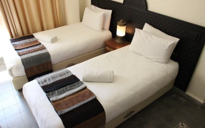 Twin room in Riad 2| The Spot Morocco, Surf Camp Morocco, accommodation Essaouria, surf holiday Morocco
