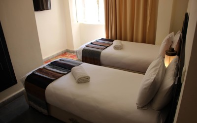 Twin room in Riad| The Spot Morocco, Surf Camp Morocco, accommodation Essaouria, surf holiday Morocco